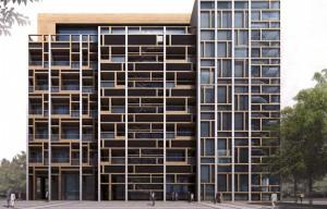 Exterior rendering of front facade