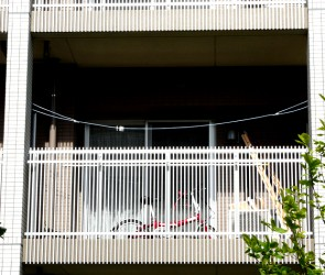 Clothesline at the right height