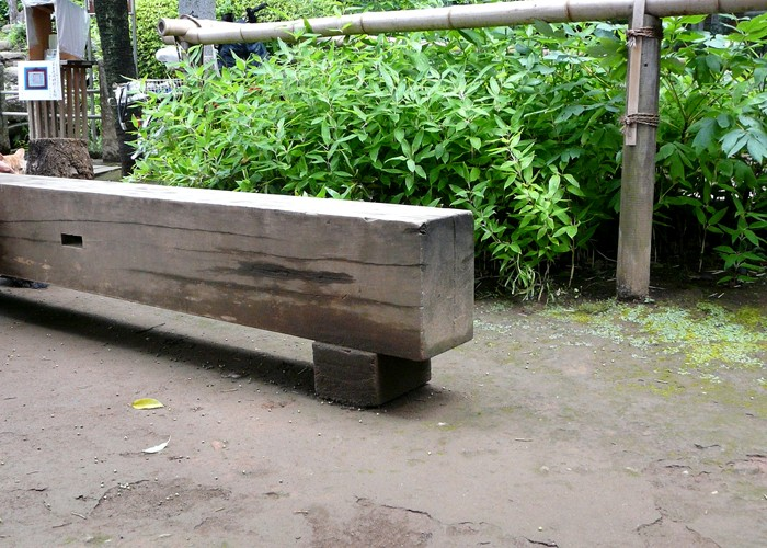 Railway Sleeper Park Bench