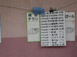Rubbish Collection Point Notices
